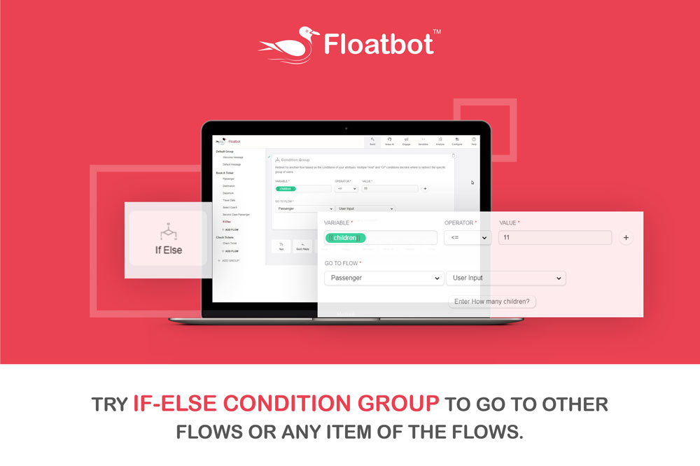 if-else condition in floatbot